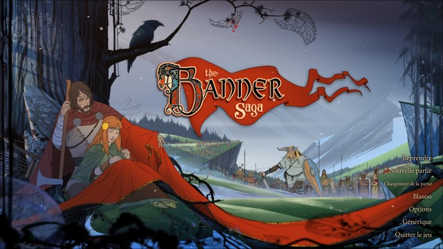 Le menus principal de The Banner Saga